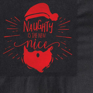 Other - 25 Naughty is the new nice Santa Luncheon napkins